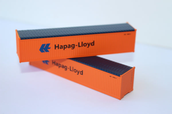 HAPAG-LLOYD 40' Canvas/Open top container, 'Rib-style' corrugated sides. 1:160 N scale