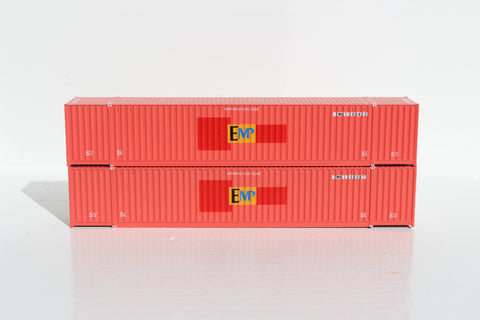 EMP (Ex-HUB GROUP) 53' HIGH CUBE 6-42-6 corrugated containers with Magnetic system, Corrugated-side. JTC # 535041