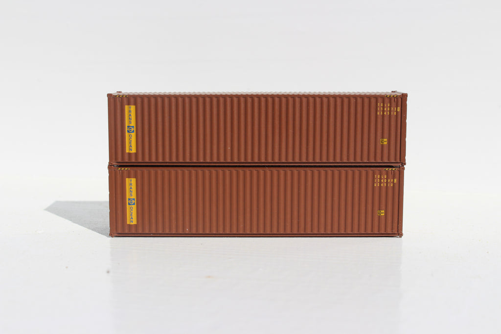 TRANS OCEAN 40' HIGH CUBE containers with Magnetic system, Corrugated-side. JTC # 405027