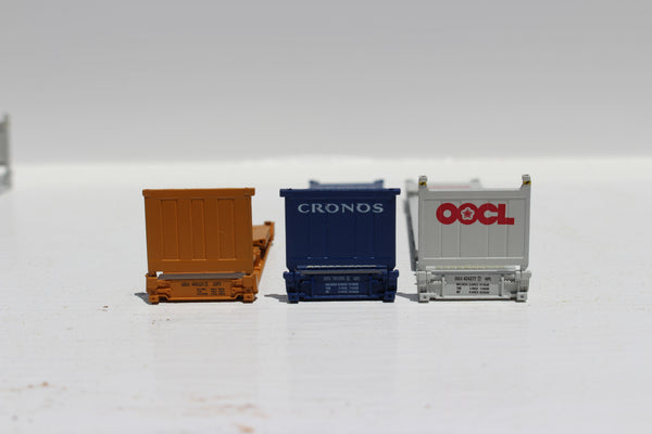 Flatrack containers Assortment Set #1 - JTC 402551  6-container set