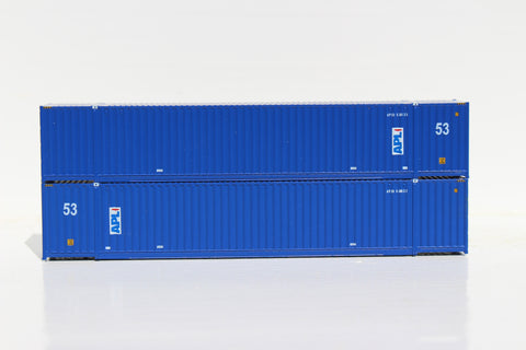 APL 53' HIGH CUBE 6-42-6 corrugated containers with Magnetic system, Corrugated-side. JTC # 535032