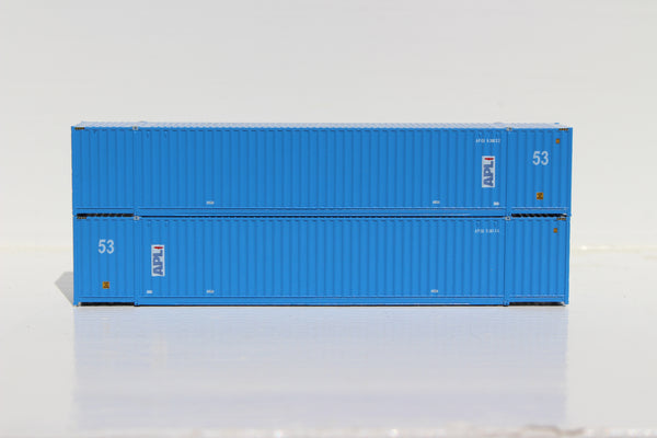 APL 53' HIGH CUBE 6-42-6 corrugated containers with Magnetic system, Corrugated-side. JTC # 535005