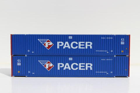 PACER (New Image) 53' HIGH CUBE 6-42-6 corrugated containers with Magnetic system, Corrugated-side. JTC # 535020