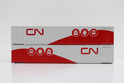 CN 'Multimodal' 53' HIGH CUBE 6-42-6 corrugated containers with Magnetic system, Corrugated-side. JTC # 535070