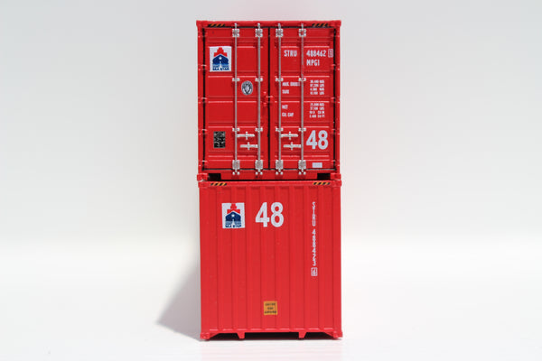 SEA STAR 48' HC 3-42-3 corrugated containers with Magnetic system, FIRST TIME IN N SCALE. JTC # 485006