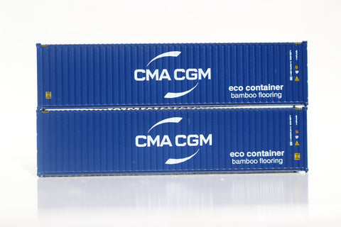 CMA CGM (2017 New Logo) 40' HIGH CUBE containers with Magnetic system, Corrugated-side. JTC# 405066