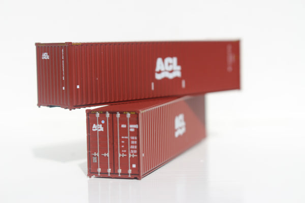 ACL (Atlantic Container Line) 40' HIGH CUBE containers with Magnetic system, Corrugated-side. JTC # 405018
