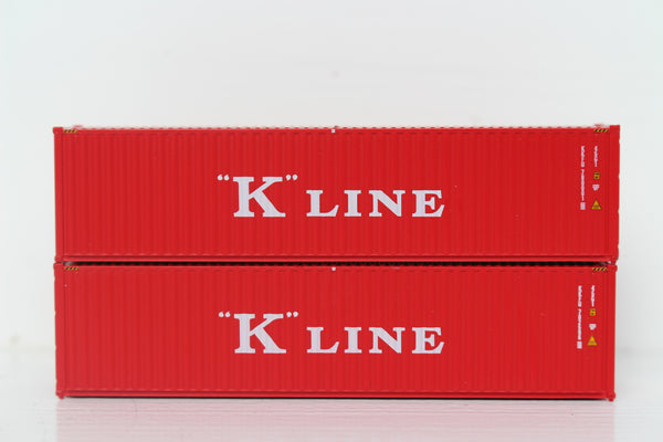 K-LINE 40' HIGH CUBE containers with Magnetic system, Corrugated-side. JTC # 405011 SOLD OUT