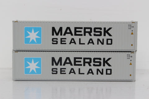 MAERSK SEALAND Set#1 40' HIGH CUBE containers with Magnetic system, Corrugated-side. JTC # 405034