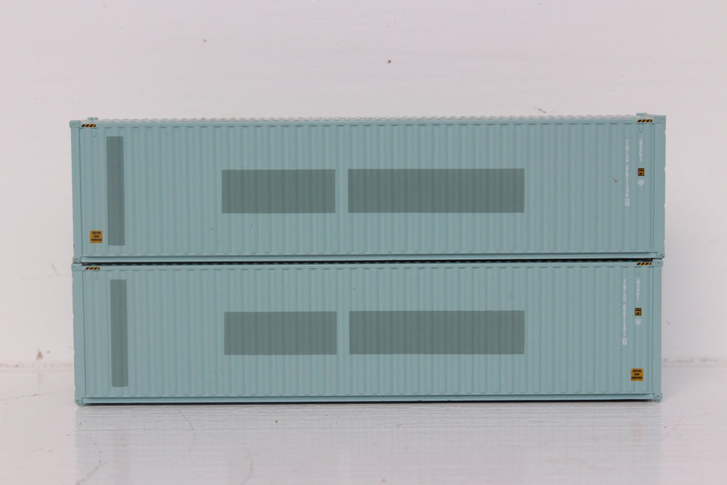 TRANSAMERICA 40' HIGH CUBE containers with Magnetic system, Corrugated-side. JTC # 405118