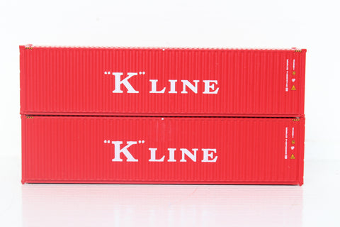 K-LINE set #2 40' HIGH CUBE containers with Magnetic system, Corrugated-side. JTC # 405097