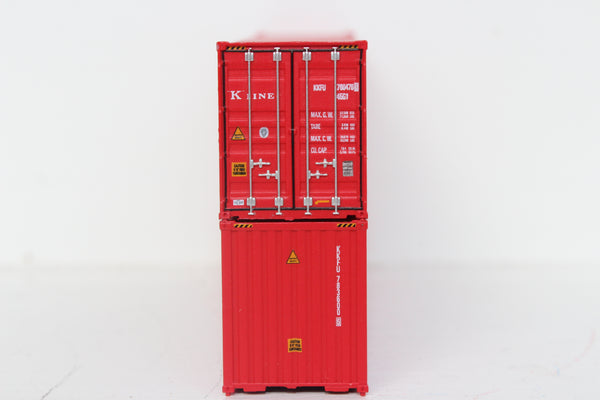 K-LINE set #2 40' HIGH CUBE containers with Magnetic system, Corrugated-side. JTC # 405097 SOLD OUT