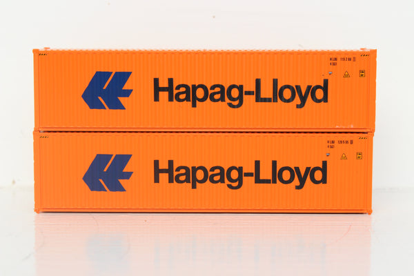 HAPAG-LlOYD 40' HIGH CUBE containers with Magnetic system, Corrugated-side. JTC # 405110 SOLD OUT