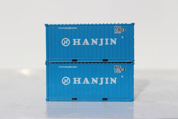 HANJIN 20' Std. height containers with Magnetic system, Corrugated-side. JTC-205312