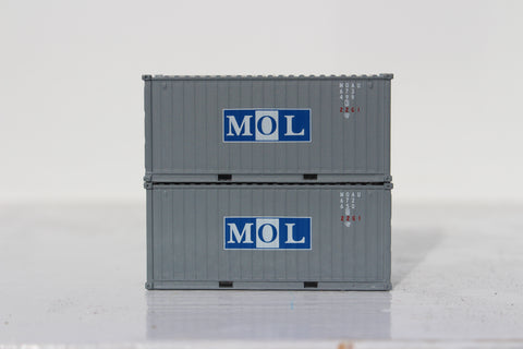MOL 20' Std. height containers with Magnetic system, Corrugated-side. JTC-205351