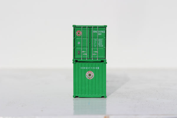 Evergreen 20' Std. height containers with Magnetic system, Corrugated-side. JTC-205346