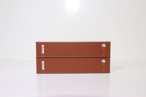 "TFL 40' Standard height (8'6"")  3-P-42-P-3 Panel side square corrugations containers. JTC # 405601"