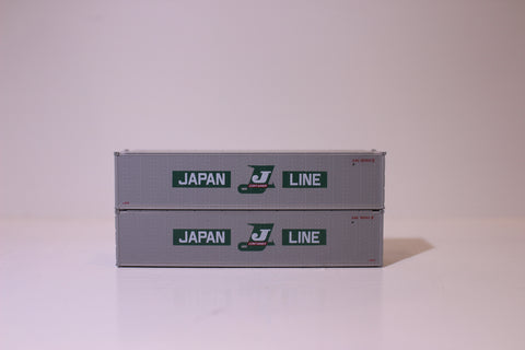 "JAPAN LINE 40' Standard height (8'6"") Smooth-side containers . JTC # 405659"