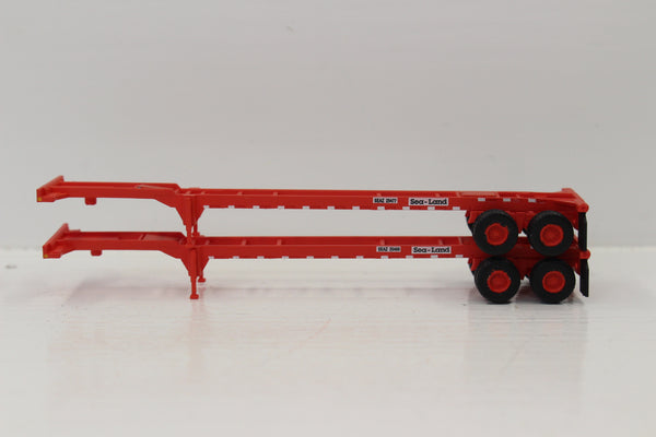 SEALAND (RED) 2pk 40' CHASSIS for 40' containers.  JTC #142008