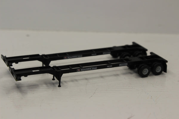 MITSUI O.S.K. (BLK) 2pk 40' CHASSIS for 40' containers.  JTC #142003