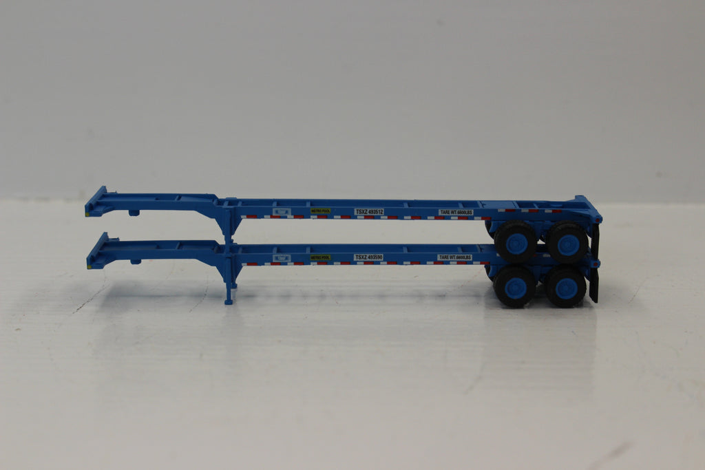 TRAC (BLUE) 2pk 40' CHASSIS for 40' containers.  JTC #142012