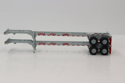 K-LINE  (Gray) 2pk 40' CHASSIS for 40' containers.  JTC #142006