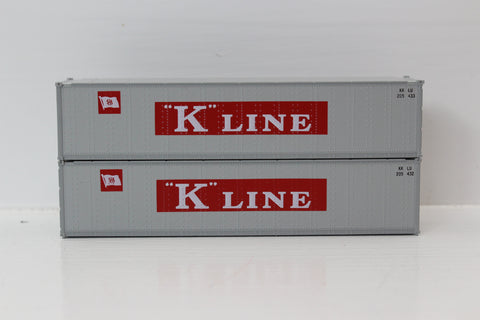 "K-LINE 40' Standard height (8'6"") Smooth-side containers . JTC # 405655"