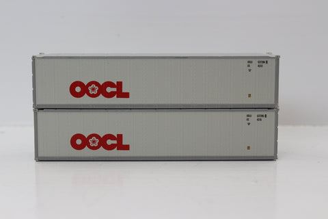 "OOCL 40' Standard height (8'6"") Smooth-side containers . JTC # 405653"