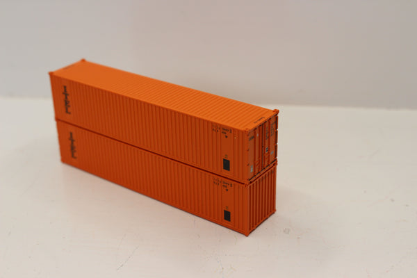 "ITEL 40' Standard height (8'6"")  3-P-42-P-3 Panel side square corrugations containers.  JTC # 405607"