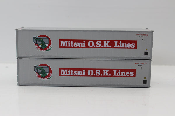 "MITSUI OSK 40' Standard height (8'6"") Smooth-side containers . JTC # 405657"