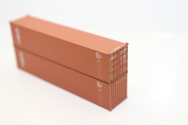 "CAI 40' Standard height (8'6"")  3-P-42-P-3 Panel side square corrugations containers. JTC # 405605"
