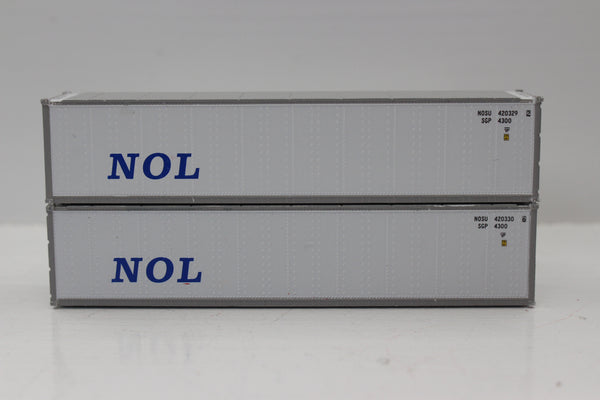 "NOL 40' Standard height (8'6"") Smooth-side containers . JTC # 405658"