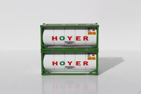 HOYER 20' (green) Standard Tank Container (full wrap around walkway) 205209