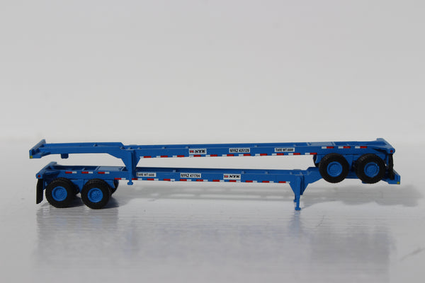 NYK LINE (blue) 40' CHASSIS for 40' containers.  JTC #142013
