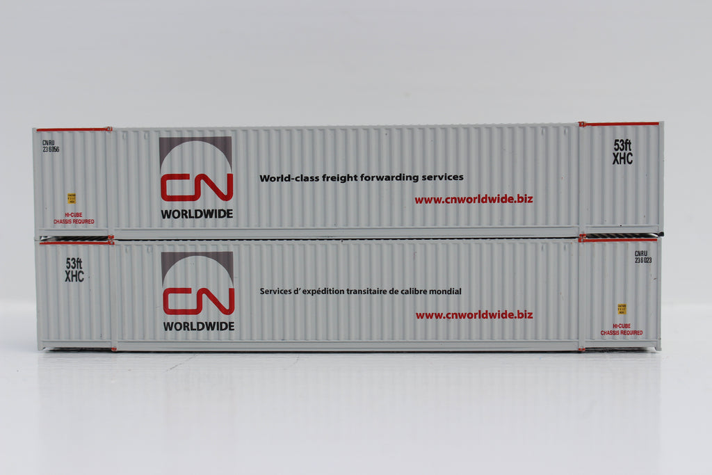 CN 'WORLDWIDE' 53' HIGH CUBE 6-42-6 corrugated containers with Magnetic system, Corrugated-side. JTC # 535045
