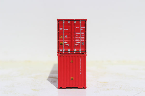 K-LINE set #3 40' HIGH CUBE containers with Magnetic system, Corrugated-side. JTC # 405098
