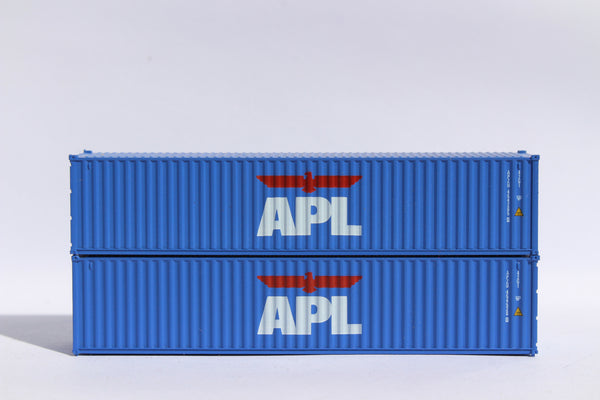 "APL (lg logo) JTC # 405301 APL 40' Standard height (8.6"") corrugated side steel containers"