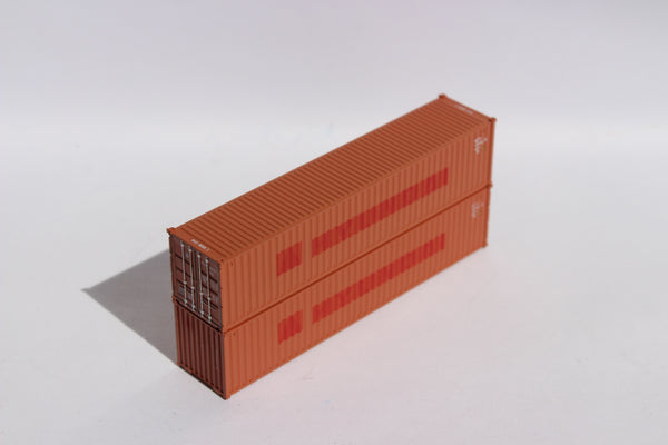 "MAXU (ex-Hyundai patch) - JTC # 405319 40' Standard height (8'6"") corrugated side steel containers"
