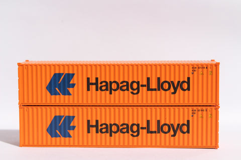 "HAPAG LlOYD (lg logo)- JTC # 405314 40' Standard height (8'6"") corrugated side steel containers"