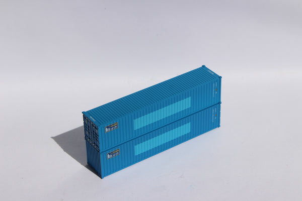 "BEACON (blue patch) - JTC # 405318 40' Standard height (8.6"") corrugated side steel containers"