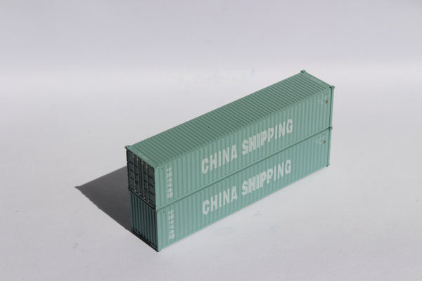"CHINA SHIPPING JTC # 405307 40' Standard height (8.6"") corrugated side steel containers"