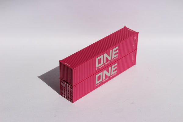 "ONE UETU(magenta)- JTC # 405324 40' Standard height (8'6"") corrugated side steel containers"
