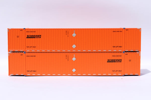 SCHNEIDER 53' HIGH CUBE 8-55-8 corrugated containers with stackable Magnetic system. JTC # 537004