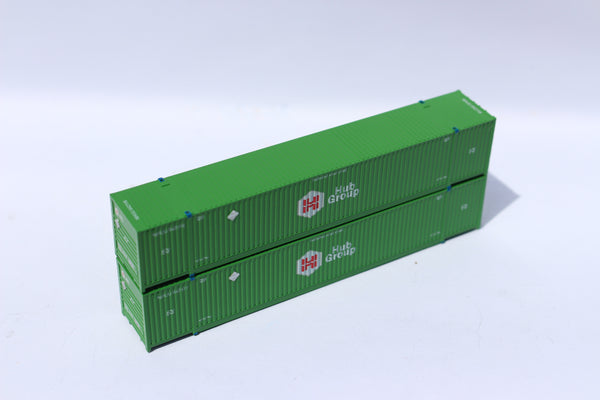 HUB GROUP 53' HIGH CUBE 8-55-8 corrugated containers with stackable Magnetic system. JTC # 537001