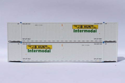 JB HUNT 53' HIGH CUBE 8-55-8 corrugated containers with stackable Magnetic system. JTC # 537002
