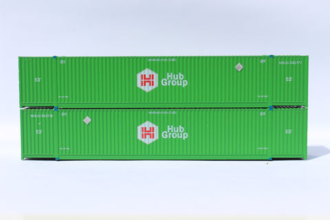 HUB GROUP 53' HIGH CUBE 8-55-8 corrugated containers with stackable Magnetic system. JTC # 537051