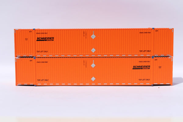 SCHNEIDER 53' HIGH CUBE 8-55-8 corrugated containers with stackable Magnetic system. JTC # 537054