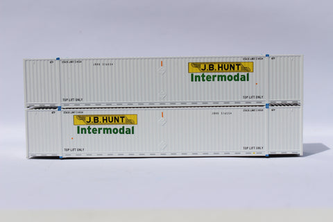 JB HUNT 53' HIGH CUBE 8-55-8 corrugated containers with stackable Magnetic system. JTC # 537052