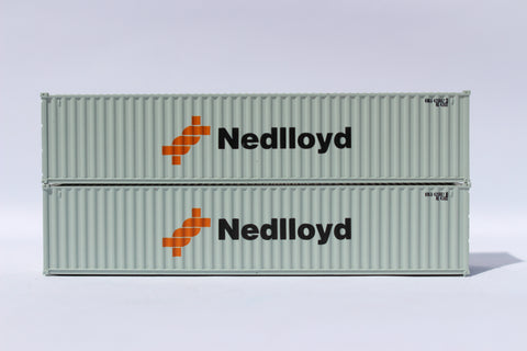 "NEDLlOYD (gray)- JTC # 405315 40' Standard height (8'6"") corrugated side steel containers"
