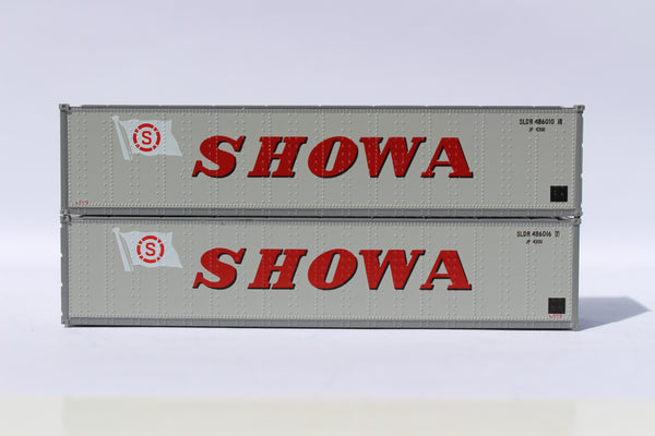 "SHOWA 40' Standard height (8'6"") Smooth-side containers . JTC # 405666"